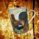 DEPARTMENT DEPT 56 ROOSTER FRENCH COUNTRY MUG CUP MINT