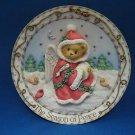 CHERISHED TEDDIES SEASON OF PEACE 1996 CHRISTMAS PLATE