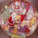 BILL BELL NOT A CREATURE WAS PURRING CAT XMAS PLATE NEW