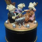 ENESCO MOUSE MICE ORCHESTRA TRIO MUSIC BOX ANIMATED NR
