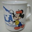 DISNEY CHANNEL MICKEY DIRECTOR MUG CUP WDP ENGLAND 1984