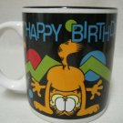 GARFIELD CAT HAPPY BIRTHDAY COLLECTIBLE MUG CUP MINT NR
