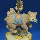 GRAND CAROUSEL BEARS BEES MUSIC BOX ENESCO 1997 CUTE