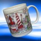 GREAT AMERICAN LIGHTHOUSES STRAITS OF MACKINAC MUG CUP