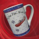 RED HAT SOCIETY SISTERHOOD IF THE HAT FITS MUG CUP MINT