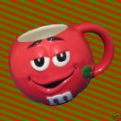 M&M M&Ms RED FIGURAL CHRISTMAS HOLIDAY CUP MUG CUTE
