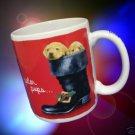 YELLOW LAB LABRADOR POLAR PUPS DOGS CHRISTMAS MUG  CUP