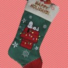 PEANUTS SNOOPY DOGHOUSE MUSICAL CHRISTMAS STOCKING NEW