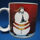 SAKURA BREAKING THE ICE SNOWMAN RED MUG CUP GARANT NEW