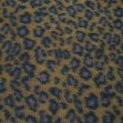 WILD CAT LEOPARD BROWN BLACK FLEECE FABRIC 2+ YARDS NEW