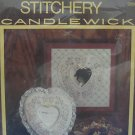 STITCHERY CANDLEWICK HEARTS FLOWERS FRAME CRAFT KIT NIP