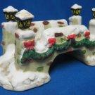 Christmas Village Accessory Stone Bridge Bisque Mint