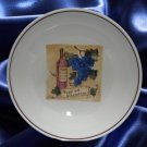 OVER & BACK WINE GRAPES LG PASTA SERVING BOWL CHIANTI