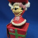 DISNEY MINNIE HOLIDAY CHRISTMAS BOBBLEHEAD FIGURINE NEW