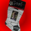 SOCCER PHOTO FRAME CHRISTMAS STOCKING SPORTS NEW