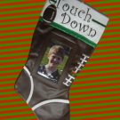 FOOTBALL PHOTO FRAME CHRISTMAS STOCKING SPORTS NEW