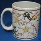 WHITE PLUMERIA ALOHA HAWAII HAWAIIAN FLOWER MUG CUP