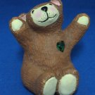 MAY EMERALD BIRTHSTONE BIRTHDAY TEDDY BEAR FIGURINE