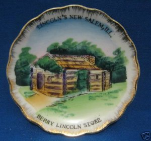 LINCOLNS NEW SALEM IL BERRY LIINCOLN STORE MIINI PLATE