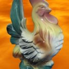 FRENCH COUNTRY ROOSTER POTTERY FIGURINE MID CENTURY NR