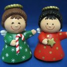 HALLMARK CHRISTMAS ANGELS SALT PEPPER SHAKERS SET 2