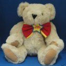 VERMONT TEDDY BEAR JOINTED PLUSH BIRTHDAY BOW TIE CUTE
