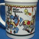 LOONEY TUNES 6 FLAGS GREAT AMERICA MUG CUP BUGS TWEETY