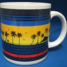 HAWAII HAWAIIAN ISLANDS SUNSET SOUVENIR MUG CUP NEW