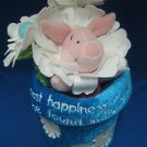 DISNEY FLOWER POT PIGLET POOH FRIEND PLUSH COLLECTIBLE