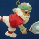 HALLMARK TENNIS PLAYER SANTA CHRISTMAS ORNAMENT 1988