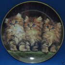 ORANGE TABBY 3 LITTLE KITTENS CATS PLATE GUY WITHERS NR