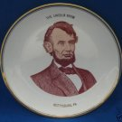 LINCOLN ROOM GETTYSBURG PA SOUVENIR COLLECTOR PLATE WOW