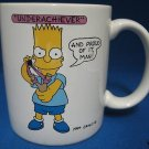 BART SIMPSON UNDERACHIEVER PROUD OF IT COMICAL MUG CUP