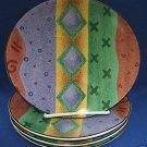 SANGO NEXUS 4885 STONEWARE DINNERWARE 4 SALAD PLATES NR