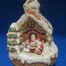 Snowy Gingerbread House Christmas Carolers Music Box