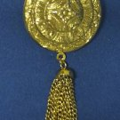 VINTAGE ENGRAVED GOLD PLATED LOCKET BROOCHE PIN FANCY