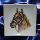 VINTAGE ARTMARK TAN HORSE SQUARE DISH MADE IN JAPAN NR
