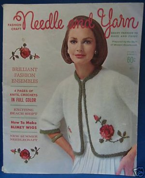 VINTAGE 1964 NEEDLE YARN FASHION CRAFT PATTERN MAGAZINE