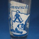 VINTAGE MINNESOTA STATE SONG TUMBLER GLASS MID CENTURY
