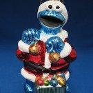 SESAME STREET COOKIE MONSTER GLASS CHRISTMAS ORNAMENT