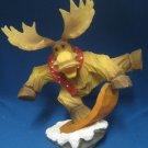 Snowboarding Snowboarder Moose Sculpture Figurine Fun