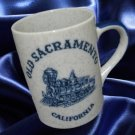 OLD SACRAMENTO CALIFORNIA TRAIN ENGINE MUG CUP VINTAGE