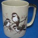 CHICKADEES BIRDS AVIARY INCISED DESIGN MUG CUP CUTE