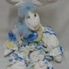 Chenille Bedspread Bunny Rabbit Doll Hand Crafted OOAK