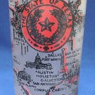 TEXAS STATE SEAL SOUVENIR FROSTED TUMBLER FEDERAL GLASS