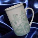 STARBUCKS COFFEE TEA CUP MUG WHITE GREEN 1998 MINT NR