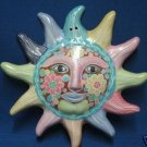 SOLAR ART TERRA COTTA SUN PLAQUE HAND PAINTED UNIQUE NR