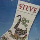 CANADIAN GOOSE CROSS STITCH CHRISTMAS STOCKING KIT NIP