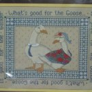 CREWEL EMBROIDERY KIT WHAT'S GOOD FOR THE GOOSE GANDER