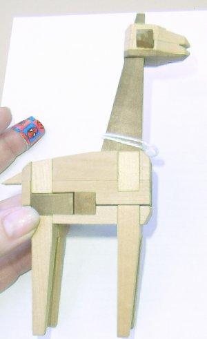 Wooden Giraffe Puzzle - Mind Teaser